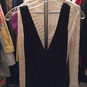 WHBM v neck maxi dress